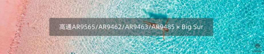 高通AR9565/AR9462/AR9463/AR9485在BigSur/Catalina/Mojave的驱动方法