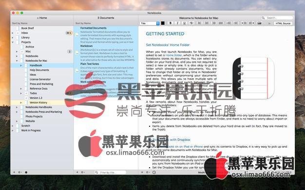 Notebooks 2 For Mac v2.3.3 文字编辑写作软件